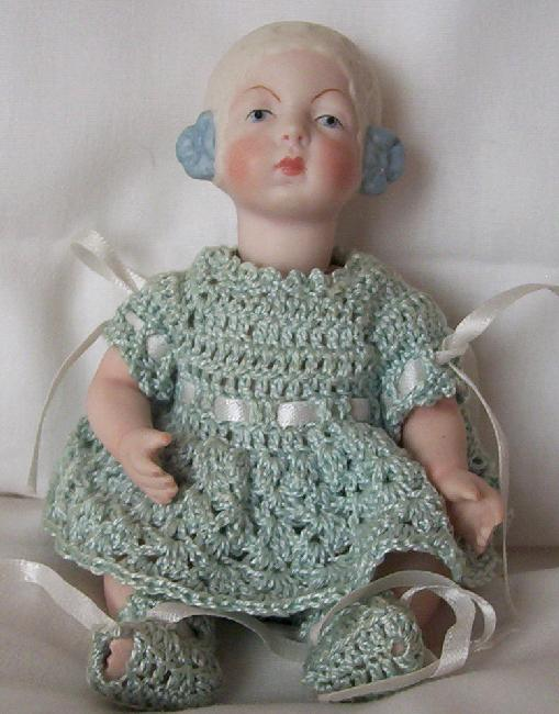 "Full Porcelain Victorian Tiny Doll 6"" SELLING OUT MY HUGE"